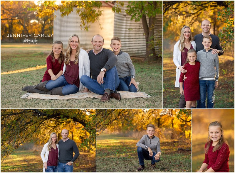 DFW Fall Mini Sessions, Coppell Family Photographer, Coppell TX, Family Photos, What to wear for fall, Family of 4, fall portraits