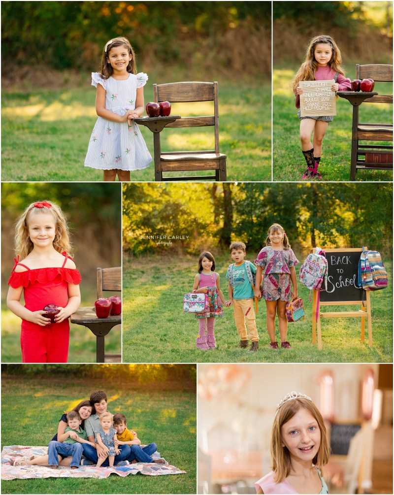 Back to School Photos, Back to School Minis, Large family photos, Family with 5 kids, Large family photography, back to school mini session, DFW portrait photography