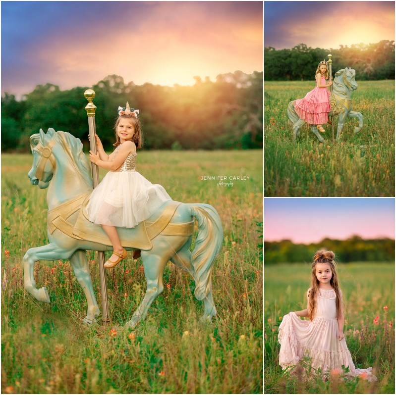 Carousel horse photos, Princess photos, Grapevine Photos, Lake Grapevine child portraits, Child portraiture in Flower Mound, Dallas Child Portraits