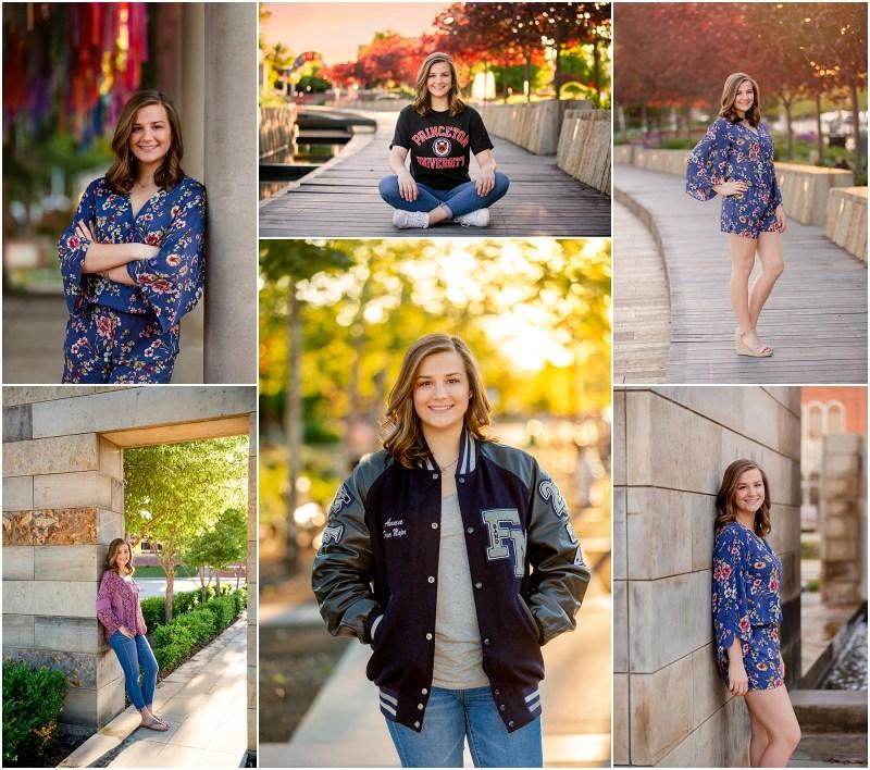 Old Town Lewisville Senior Photos, Stanford bound, Flower Mound High School Graduate, Class of 2019, Historic Lewisville, Wayne Ferguson Plaza