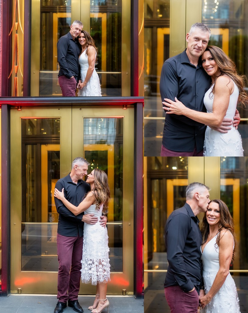 dallas engagement session, klyde warren park engagement session, happy hour, att discovery district, the statler hotel, the joule hotel, klyde warren park engagement photos, The Joule Engagement Photos