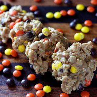 Reeces Pieces Drop Cookies {No Bake}