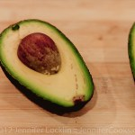 Cut each avocado in half and remove seed