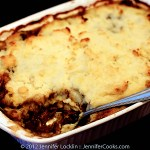 Bake at 400 degrees for about 30 minutes, or until mashed potatoes are browned and meat mixture is hot and bubbly.