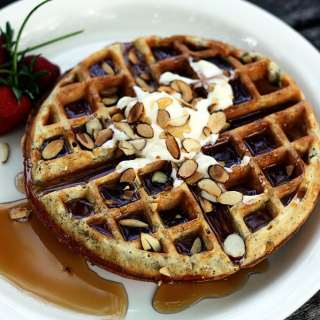 Almond Poppyseed Waffles