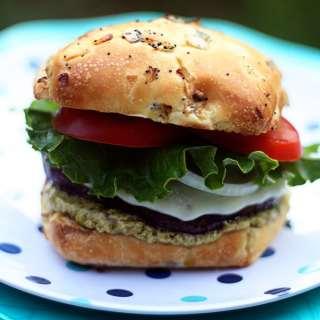 Portobello Burgers with Pesto Mayo