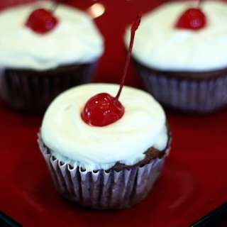 Black Forest Cupcakes: Under 200 Calories!