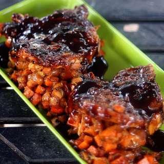 Sweet Potato and Apple Stuffed Pork Chops with Balsamic Orange Glaze