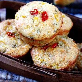 Green Chile & Cheddar Corn Muffins