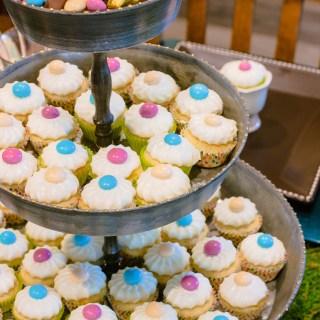 Lemon Mini Muffins with M&M's® Easter Sundae