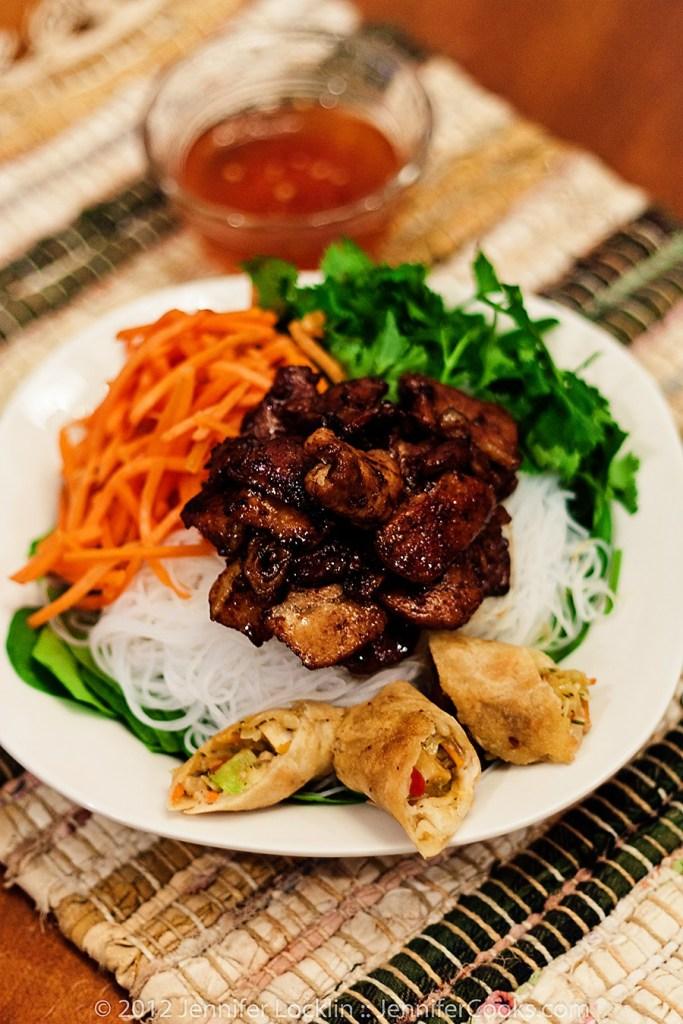 Vietnamese Bun This Nuong or Vietnamese Pork Noodle Bowl