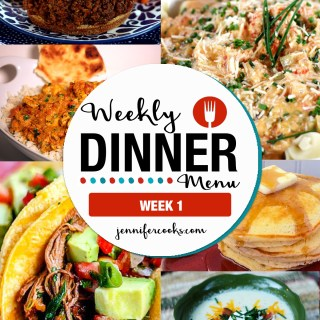 Weekly Dinner Menu: Week 1