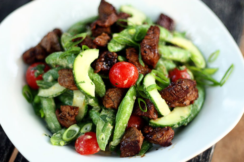 Asian Sugar Snap Pea and Steak Salad | Jennifer Cooks