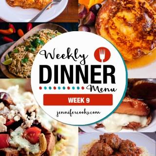 Weekly Dinner Menu: Week 9