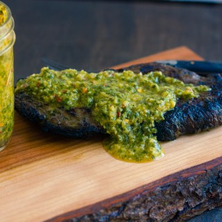 #CookOutWeek – Grilled Sirloin Steak with Chimichurri Sauce