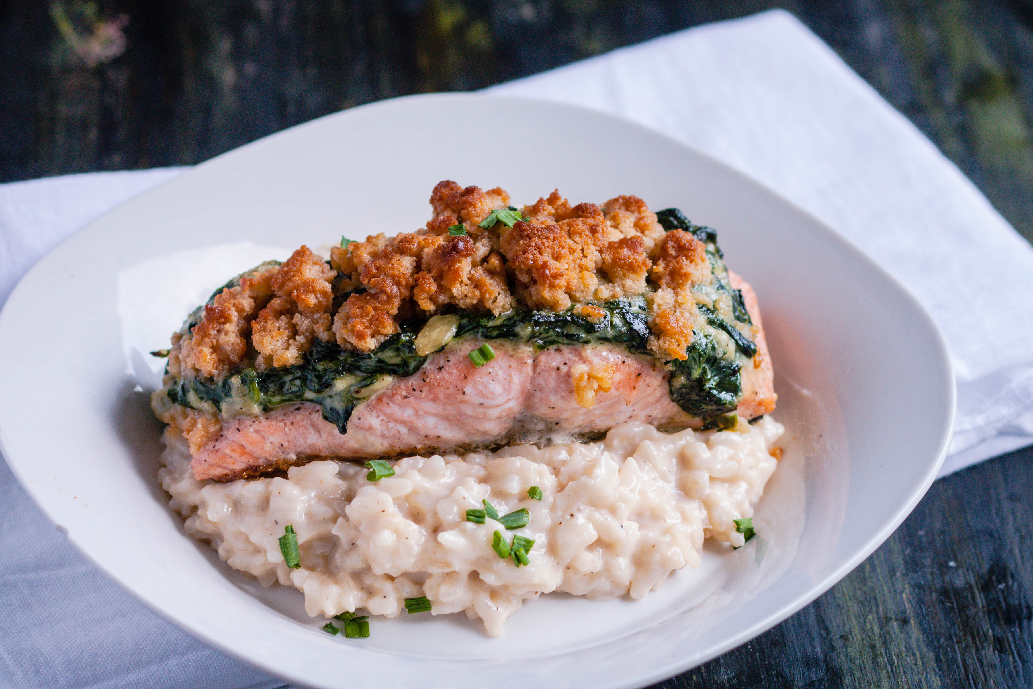 Well, I Put That Recipe To Work Again With This Salmon Florentine This Is A