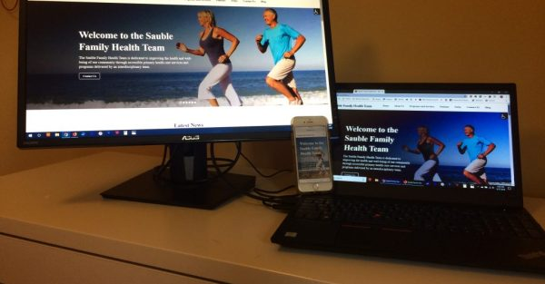 Sauble Family Health Team WordPress Website