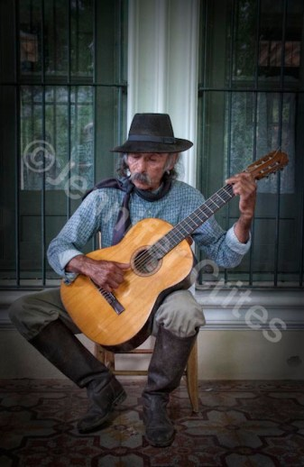 Gaucho Playing Flamenco Guitar