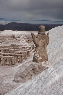 Salt Statue of Jesus