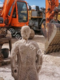 Salt Statue and Backhoe