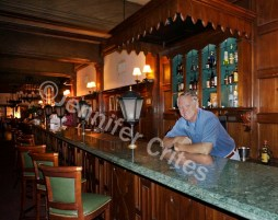 New bartender? Nope. It's Jerry at our hotel bar/restaurant in Buenos Aires.