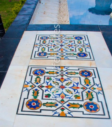 decorative tile at Jag Mandir