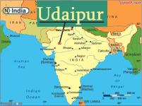 map of India showing Udaipur