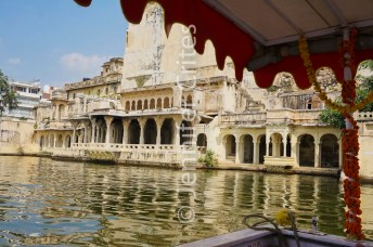 Udaipur's old city on Lake Pichola. Also called India's Venice.