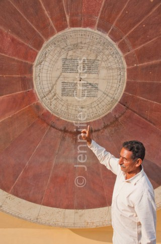 Astrology wheel, Jantar Mantar, Jaipur, India