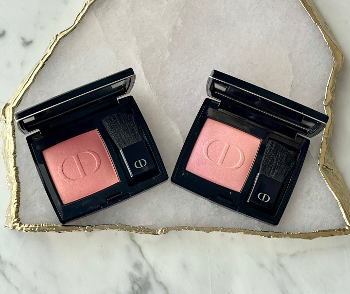 Dior Rouge Blush in Hologram and Rose Montaigne Review and Swatches