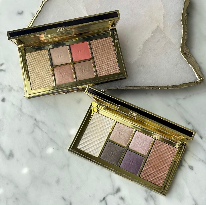 Tom Ford Shade and Illuminate Face and Eye Palettes in Rose Cashmere and Moonlit Violet, Review and Swatches