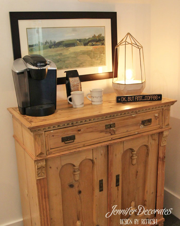 How Neat Of An Idea Is This? ReFresh Home Created An Adorable Coffee  Station In A Guest Room! I Love It! If I Was The Guest, Iu0027m Afraid It Would  Be ...