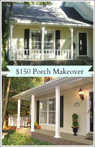 Front Porch Decorating Ideas   Weekend Porch Makeover For $150!