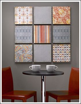 Beautiful This Budget Decorating Idea Is From CraftsnCoffee.com This DIY Wall Art  Project Uses Scrapbook Paper! The Paper Is Mounted On A Sheet Of Styrofoam  Brand ...