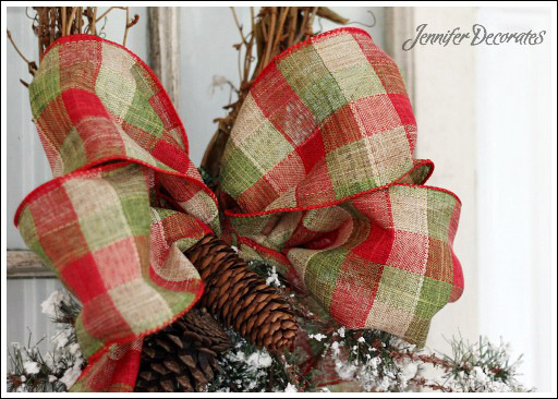 how to make a christmas bow from jennifer decoratescom