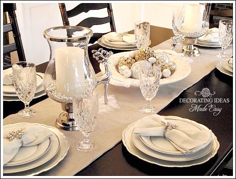 Christmas Table Setting Ideas- Create a White Christmas Table!