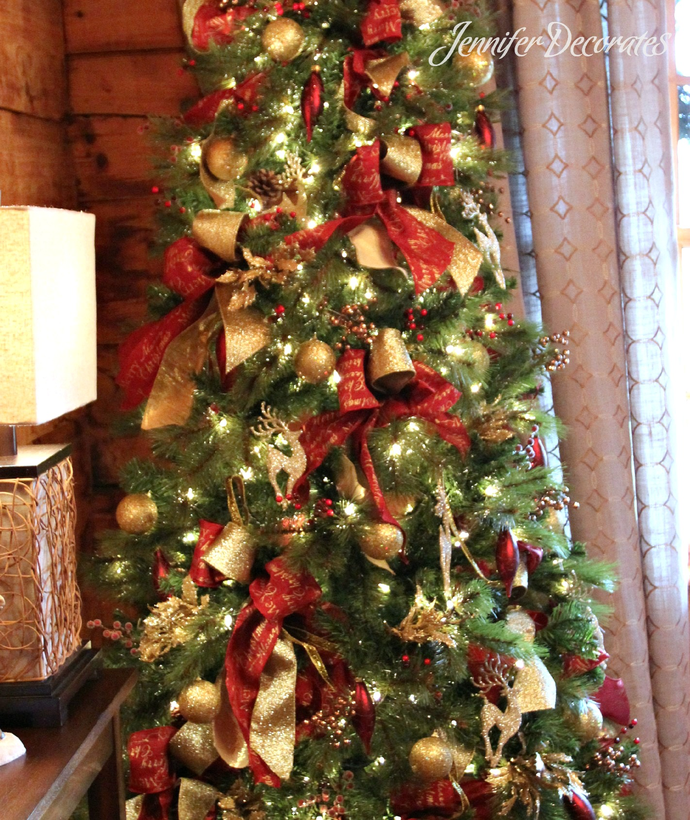 Dining Room Christmas Tree. Country Christmas Decorating Ideas ...