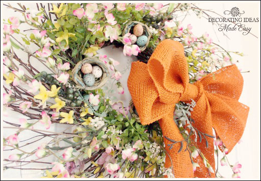 DIY EASTER WREATH from Jenniferdecorates.com