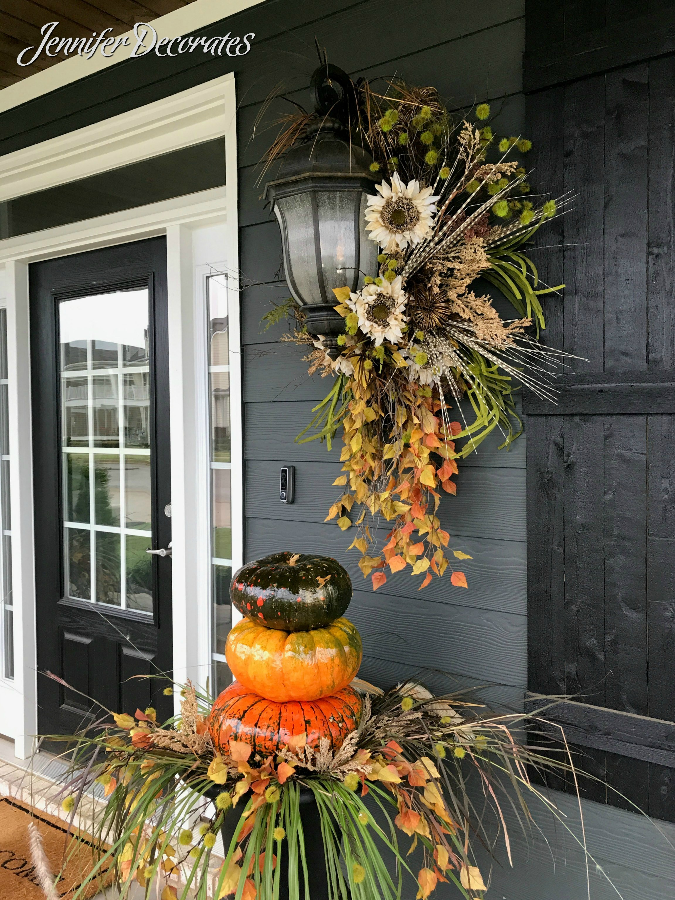 Fall Porch Decorating Ideas From