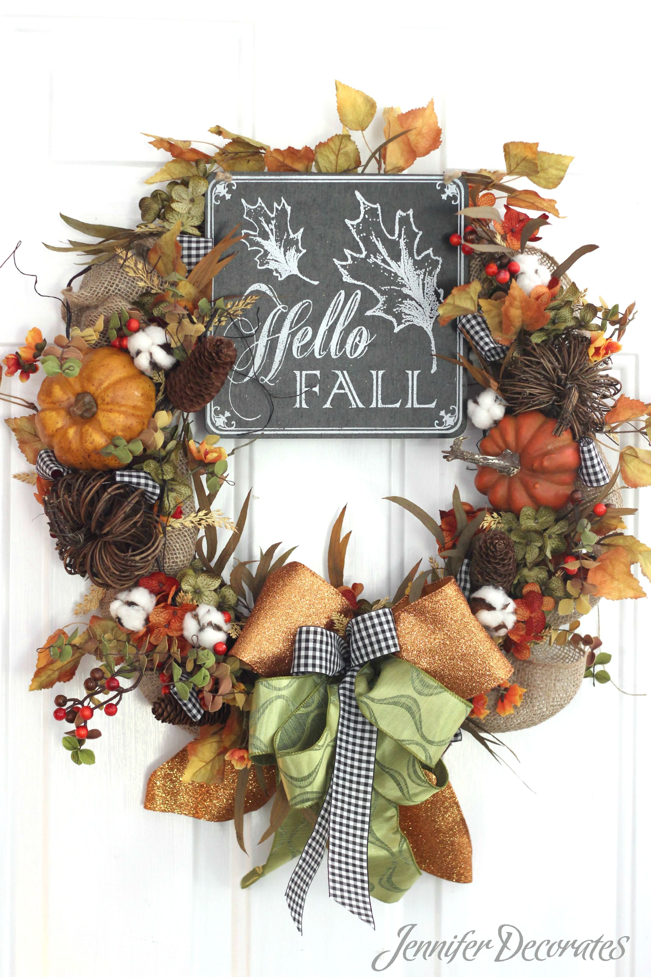 Fall decorating on a budget - Fall Wreath