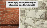 Faux Brick Wall Panels. Faux Brick Wall Tutorial This ...