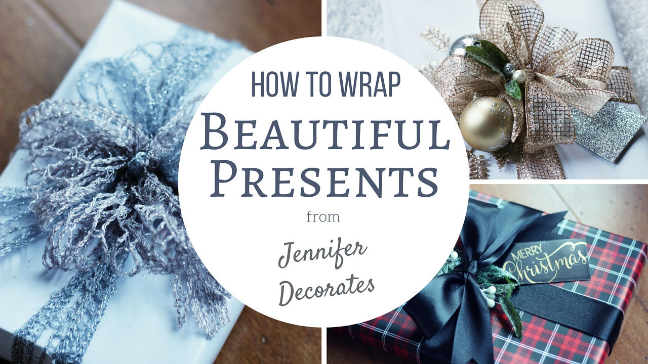 How to Wrap a Present from Jennifer Decorates.com