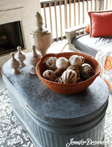 This Galvanized Water Trough Is A Really Cool Idea For An Outdoor Coffee  Table. Talk About Weather Proof! I Love It!