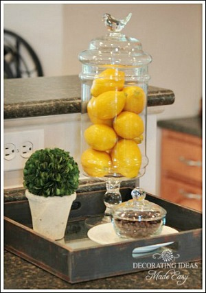 Kitchen Accessorizing Ideas from Jennifer Decorates.coms - from Jenniferdecorates.com