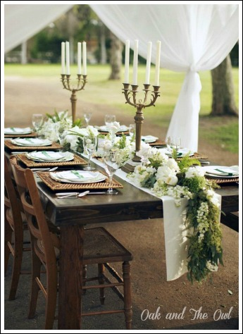 ... The Rehearsal Dinner, But You Could Make A Garland To Lay Down The  Middle Of The Bride And Groomu0027s Table Like In The Photo Below From Nancy,  ...