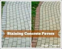 Concrete Patio Pavers - concrete stain ideas for an update!