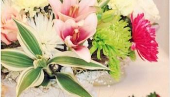A Silk Flower Centerpiece You Can Do Yourself!