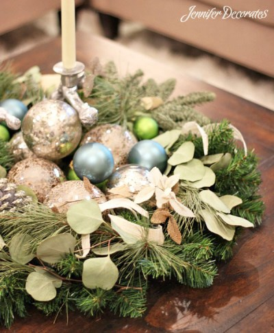 White Christmas decorating ideas- Jennifer Decorates.com