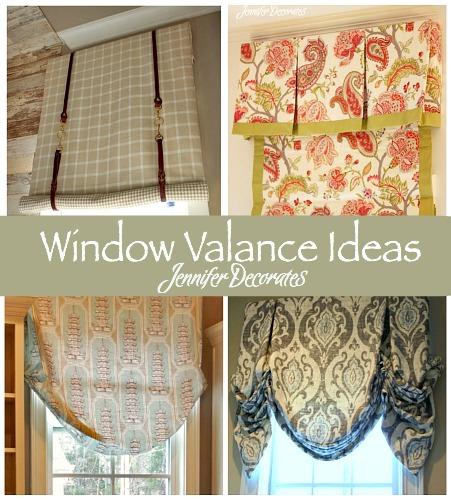 cheap valances for kitchen cleveland cabinets window valance ideas - jennifer decorates