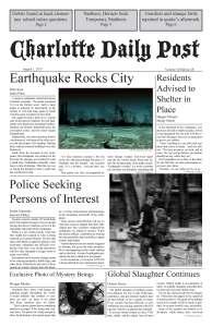 Avenging Fate Newspaper